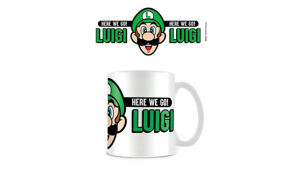 Taza Here We Go Luigi Super Mario Nintendo